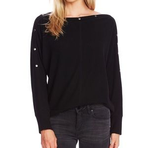 NWT Vince Camuto snap top